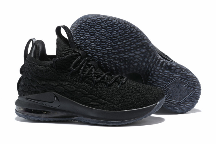 """Баскетбольные кроссовки Nike LeBron XV (15) Low """"Black"""" (40-46)"""