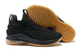 """Баскетбольные кроссовки Nikе LeBron XV (15) Low """"Black/Gym"""" (40-46)"""