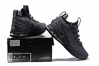 "Баскетбольные кроссовки Nike LeBron XV (15) Low ""Dark Grey/Black"" (40-46), фото 6"
