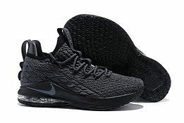 """Баскетбольные кроссовки Nikе LeBron XV (15) Low """"Dark Grey/Black"""" (40-46)"""