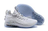 """Баскетбольные кроссовки Nikе LeBron XV (15) Low """"White/Ice"""" (40-46)"""