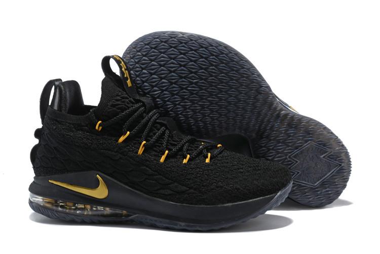 """Баскетбольные кроссовки Nikе LeBron XV (15) Low """"Black/Gold"""" (40-46)"""