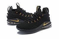 """Баскетбольные кроссовки Nikе LeBron XV (15) Low """"Black/Gold"""" (40-46), фото 2"""