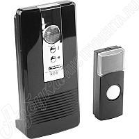 "Звонок ""КАРАТ"" электр беспровод 100м, 36 полиф мелодий, 3 режима индикации, программ.кнопка IP44, CR2032, 3AA,"
