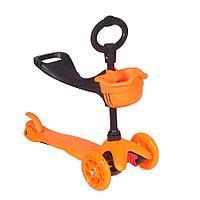 Самокат трехколесный 100B 3в1 оранжевый