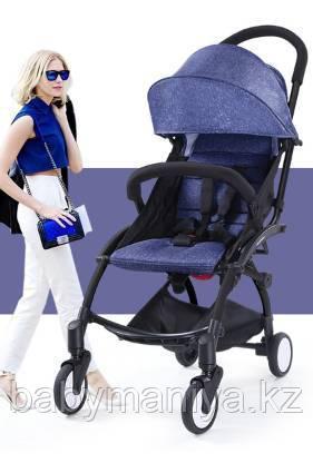 Детская Коляска BabyTime компактная и удобная Джинса(аналог YoYo)