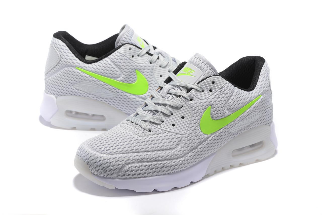 "Летние кроссовки Nike Air Max 90 Ultra BR ""Silver/Volt"" (36-45)"