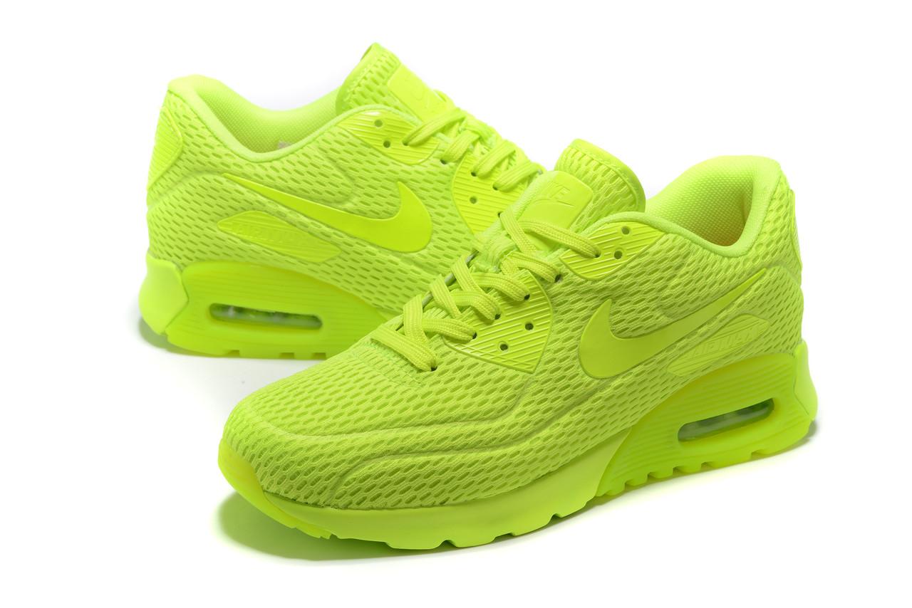 "Летние кроссовки Nike Air Max 90 Ultra BR ""Fluorescent Yellow"" (36-45)"