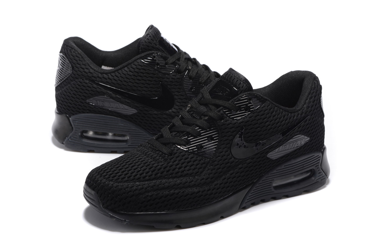 """Летние кроссовки Nike Air Max 90 Ultra BR """"Black"""" (36-45)"""
