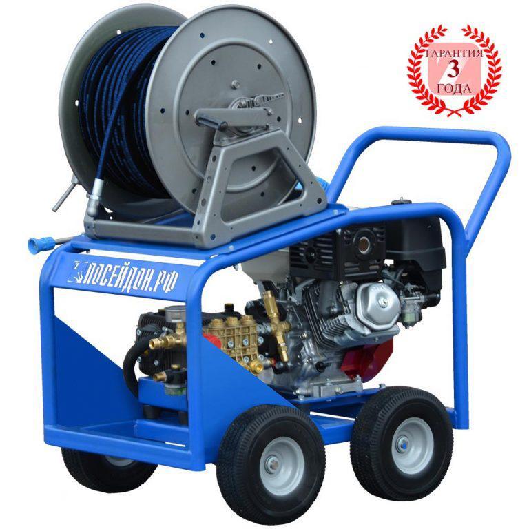 Водоструйный аппарат Посейдон B12-150-26 с бензоприводом 150 бар, 26 л/мин