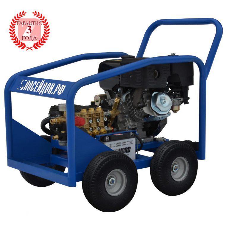 Водоструйный аппарат Посейдон В13-350-15 (ВНА-Б-350-15) с бензоприводом 350 бар, 15 л/мин
