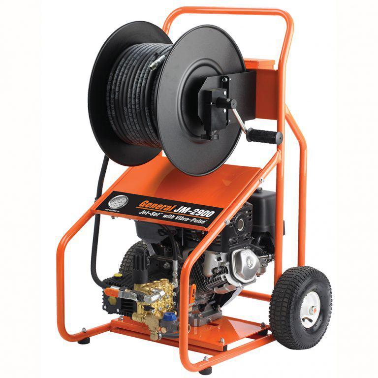 Водоструйный аппарат JМ-2900 на тележке с бензоприводом, Honda 13 л.с., 207бар, 18л/мин