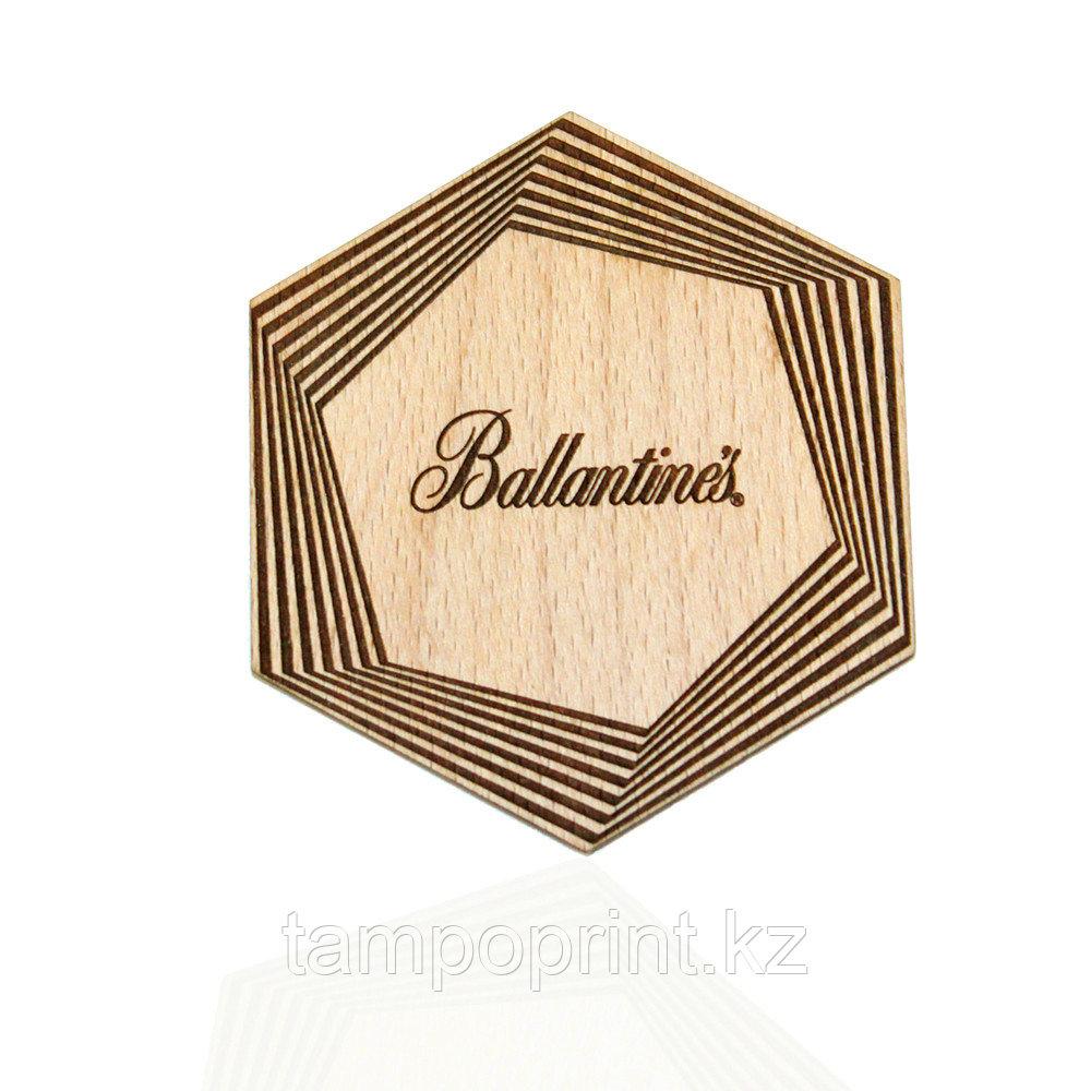 Костер деревянный фигурный DS041 бук натуральный