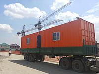 Офис для прораба из 40 футового морского контейнера!