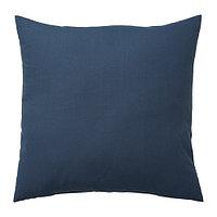 Подушка ВАЛЬБЬЁРГ 50х50 темно-синий ИКЕА, IKEA  , фото 1