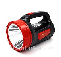 Ручной аккумуляторный светодиодный фонарь прожектор светодиодный KM 2637 2W LED 2 режима