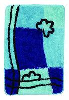 Коврик голубой/синий квадрат