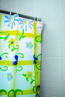 Штора для ванной (003-13 цветы)