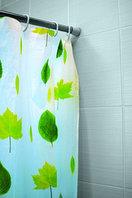 Штора для ванной (листья)
