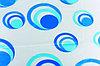 Штора для ванной (круги голубые)