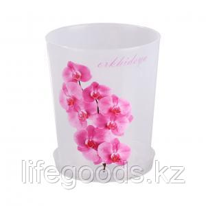 Горшок цв. для орхидеи 1,2л с под., фото 2