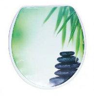 Сиденье для унитаза зеленые камни