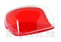 Хлебница КРИСТАЛЛ малая красный прозрачный (6шт) М1185 М1185