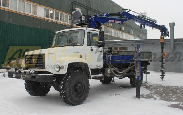Газ 33088. Бурильно - крановая установка (БКМ).