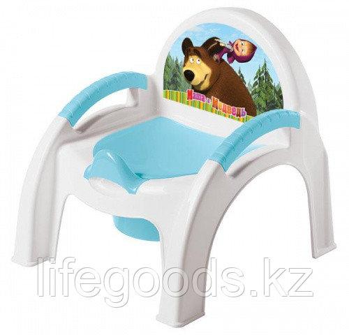 """Горшок-стульчик с аппликацией """"Маша м Медведь"""""""