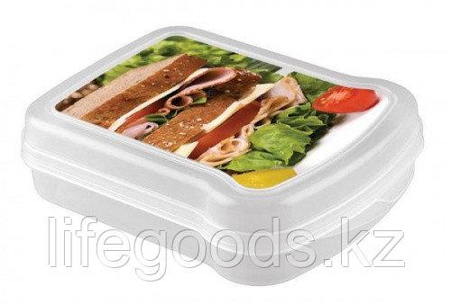 Контейнер для бутербродов с декором 170*130*42мм