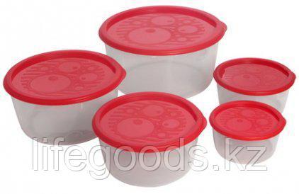 Набор контейнеров круглых низких 5шт
