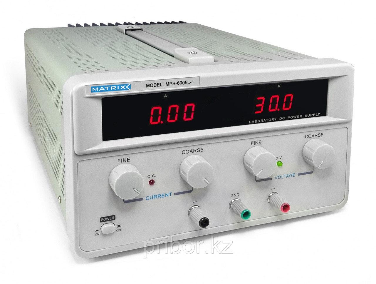 MATRIX MPS-6005L-1 Одноканальный источник постоянного напряжения (60 В, 5 А)