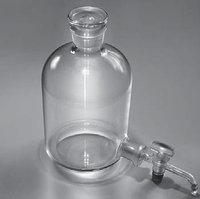 Склянка-аспиратор с краном и пришлифованной пробкой (бутыль Вульфа)