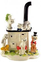 Статуэтка Кошки на печи. Керамика. Италия. Ручная работа