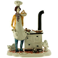 Статуэтка Повар. Керамика, Италия, ручная работа