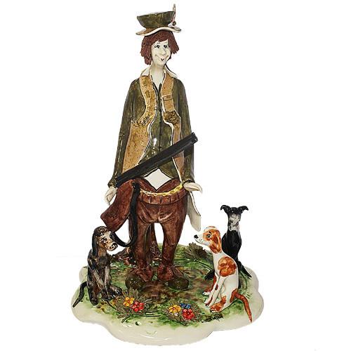 Статуэтка Охотник. Керамика, ручная работа, Италия