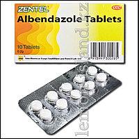 """Противопаразитарные таблетки """"Зентель"""" (альбендазол)."""