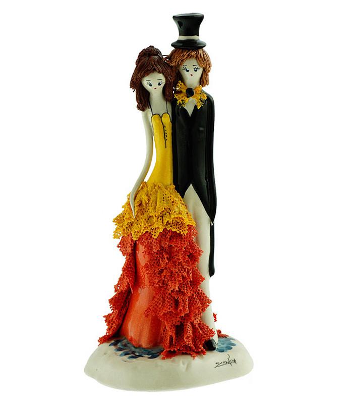 Статуэтка из керамики Леди и кавалер. Италия, ручная работа