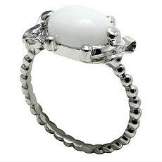 """Кольцо """"White dream"""" Roberto Bravo / серебро - 17 размер"""