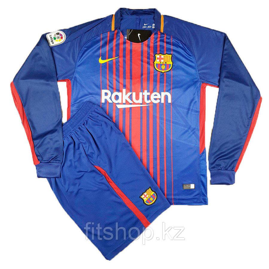 Футбольная форма Барселона 2018. Домашняя с длинным рукавом .
