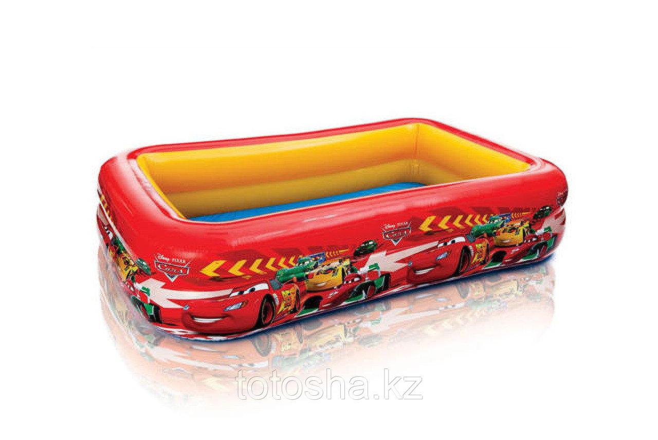 57478 Intex Надувной детский бассейн Cars ( Тачки ) 262х175х56 см