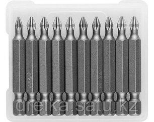 Биты ЗУБР для шуруповерта, кованые, хромомолибденовая сталь, тип хвостовика E 1/4, 50 мм, 10 шт. , фото 2