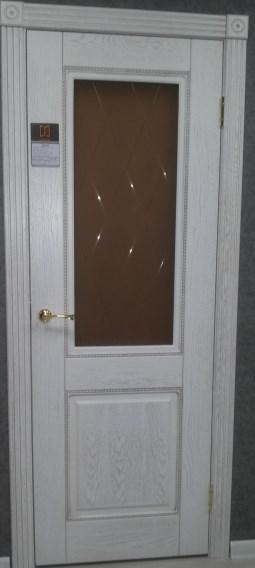 Межкомнатная шпонированная дверь Гранд капучино