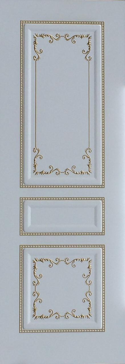 Межкомнатные двери Блюз-эмальДГ белое- золото