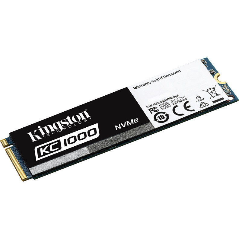 SSD-накопитель Kingston KC1000 480Gb, NVMe, M2, MLC, SKC1000/480G