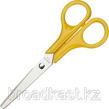 Ножницы Attache 130 мм тупоконечные с пластиковыми симметричными ручками желтого цвета