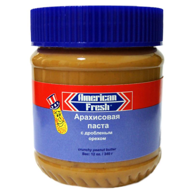 Паста арахисовая Американ Фреш с дробленым орехом - American Fresh Crunchy 340 грамм