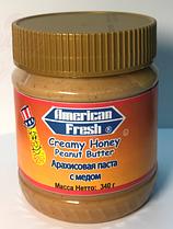 Паста арахисовая Американ Фреш Медовая 340 грамм