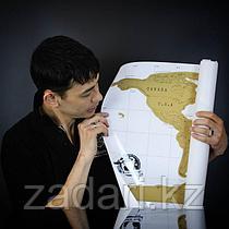 Скретч карта «Карта мира» на английском языке