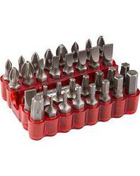 Набор бит для шуруповерта ЗУБР 26045-H33, биты с магнитным адаптером, хромомолибденовая сталь, 33 предмета